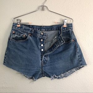Vintage Levis Button Fly Cutoff Shorts High Rise